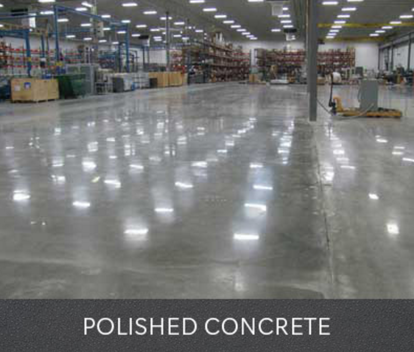 Picture of contractor polishing worn out concrete floor